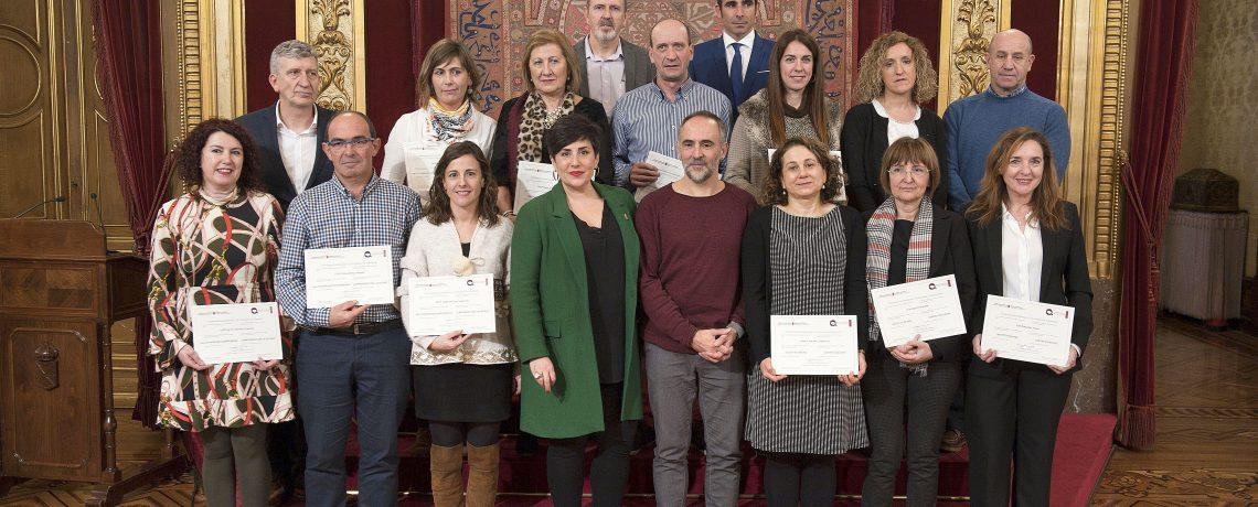 Educación otorgó los premios de calidad a 15 centros educativos de Navarra.