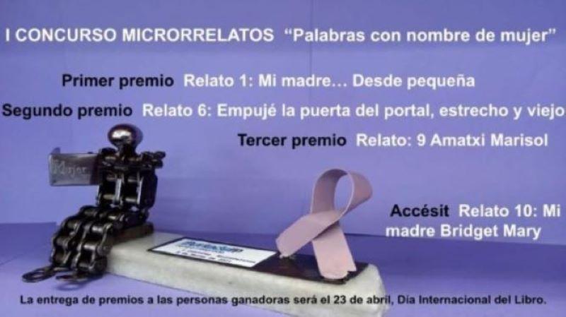 I Concurso de Microrrelatos 8 M, Día Internacional de la Mujer